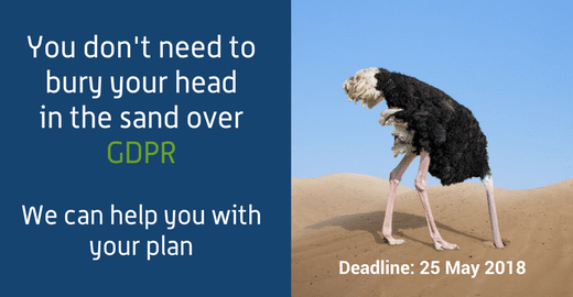 dont bury your head in the sand over gdpr