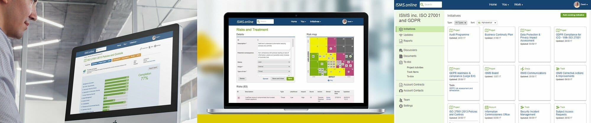 information security risk management tool in isms online platform