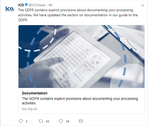 gdpr contains explicit provisions for documenting your processing activity