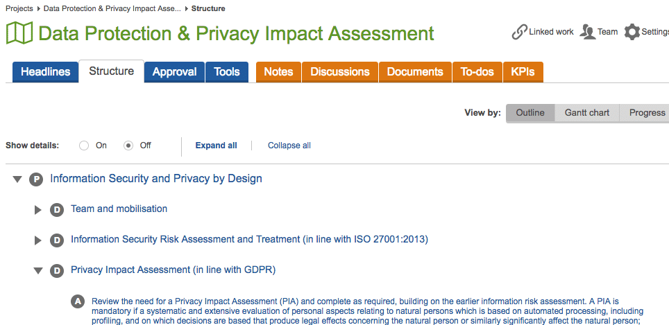 data privacy and privacy impact assessment area