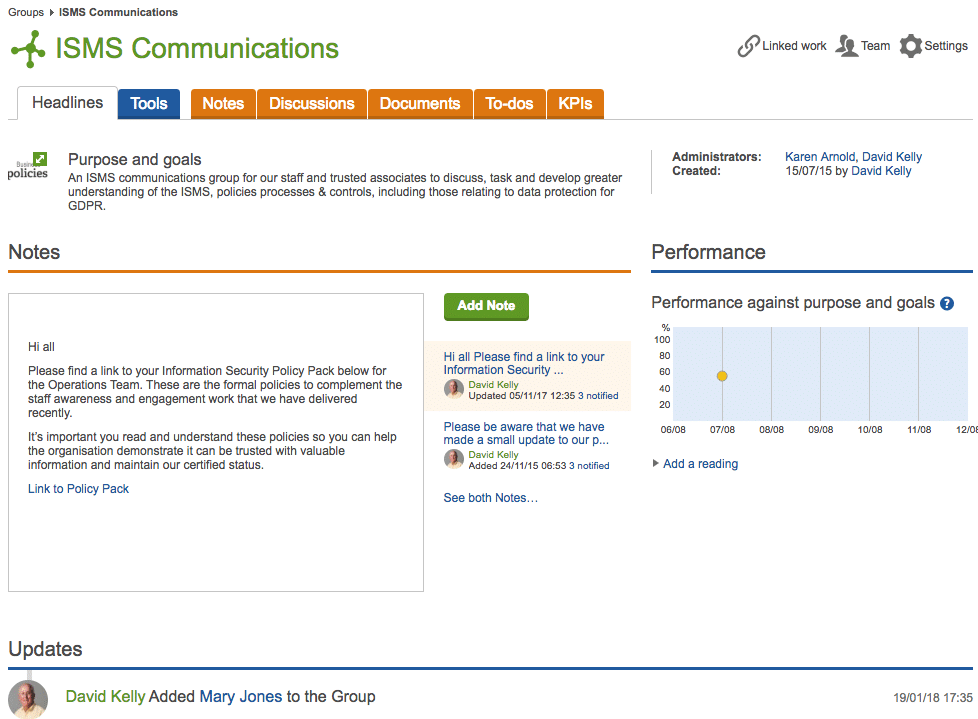 opexo ISMS communications